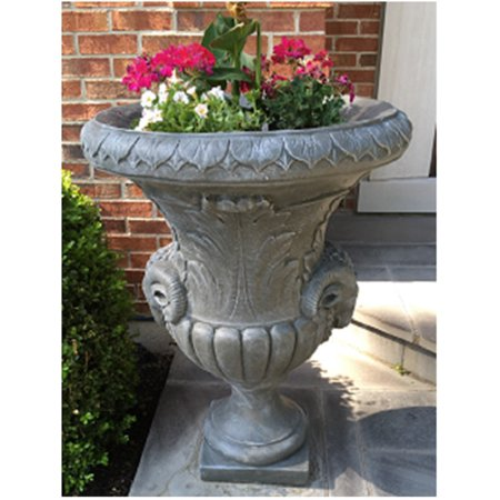 Set of 2 Taupe Finished Outdoor Decorative Urn Planters 37