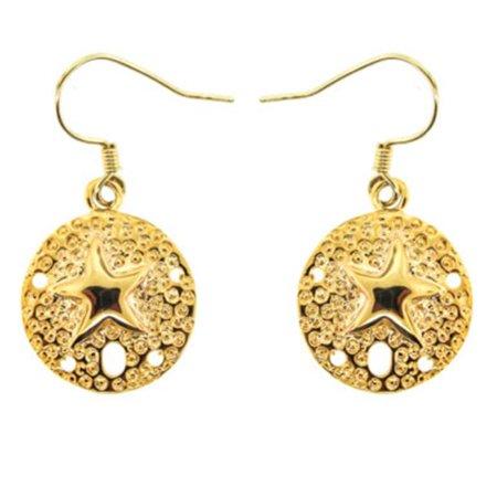 Gold Sand Dollar Earrings - image 1 of 1
