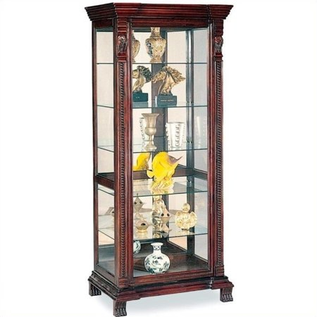 Mahogany Mirrored Curio Cabinet (Coaster Company Curio Cabinet, Brown Red )