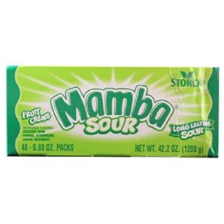 Sugar Free Sour Candy (Product Of Mamba, Changemaker Sour Fruit Chews, Count 48 (0.88 oz) - Sugar Candy / Grab Varieties & Flavors)
