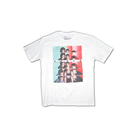 Queen Slice Band Pic Image White T Shirt (Pearl Jam T-shirts Band)