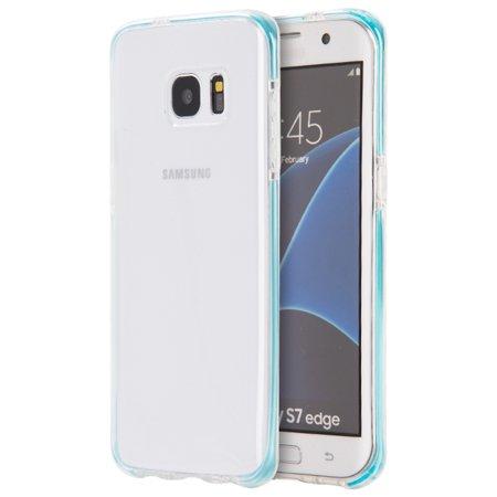 Samsung Galaxy S7 Edge Case, by Insten TPU Rubber Candy Skin Case Cover For Samsung Galaxy S7 Edge, Clear/Blue