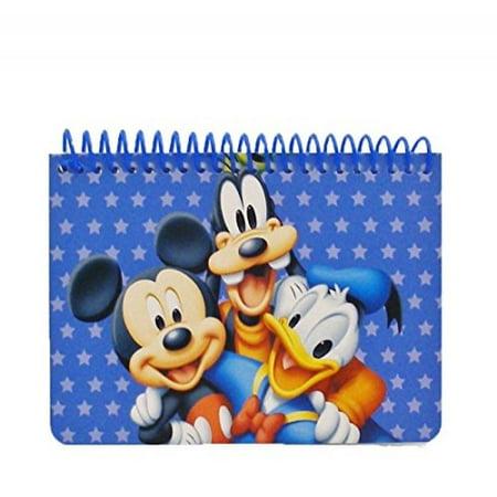 Disney Mickey Mouse and Friends Spiral Autograph Book - Blue - Graduation Autograph Book