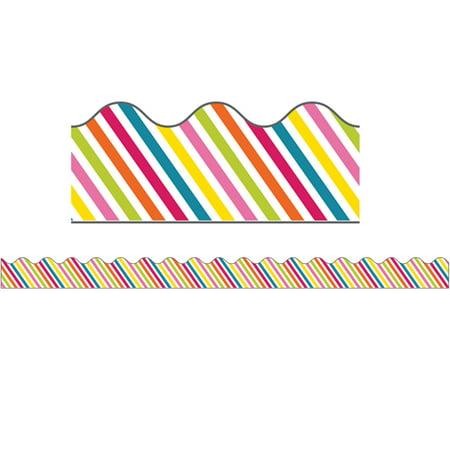 SCHOOL POP RAINBOW STRIPE SCALLOPED BORDER - Rainbow Border