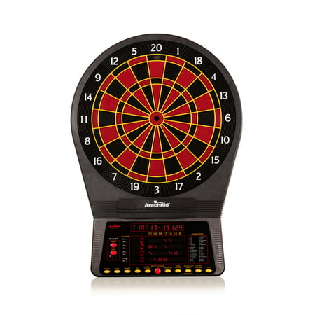 Arachnid Cricket Pro 800 Electronic Dartboard With 39 Games, 179 Variations, and 6 Soft Tip Darts