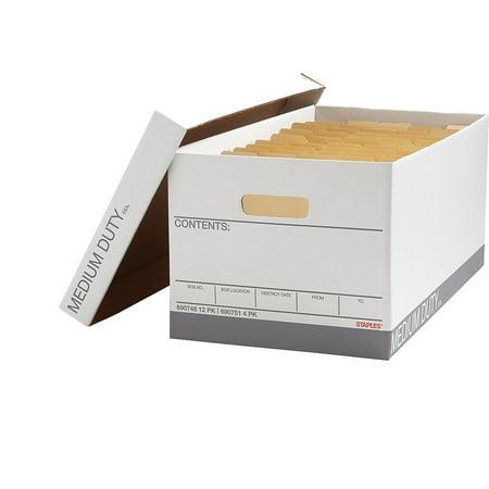 Staples Corrugated Boxes Letter Size White/Gray 4/Carton (2489601) 690751