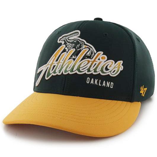 Oakland Athletics '47 Banks Ottoman Flex Hat - Green/Yellow - OSFA