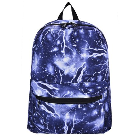 Lightning Galaxy School Backpacks Canvas Book Bags Travel Laptop Rucksack Daypack for (Galaxy Brands Bag)
