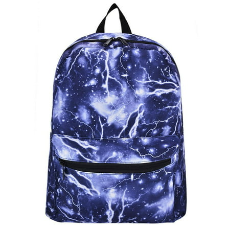 Lightning Galaxy School Backpacks Canvas Book Bags Travel Laptop Rucksack Daypack for Boys/Girls/Adults