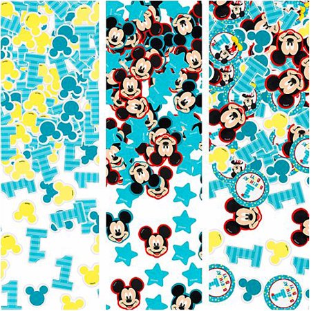 Mickey Mouse 1st Birthday 'Fun to Be One' Confetti Value Pack (3 types) - Baby Mickey Mouse 1st Birthday