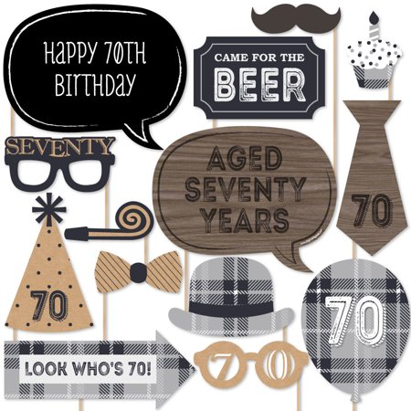 70th Milestone Birthday - Photo Booth Props Kit - 20 Count - Ideas For A 70th Birthday