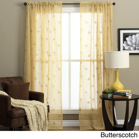 Na Front Panel - Ricardo  Zurich Embroidered Curtain Panel Pair N/A 63 Inches
