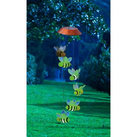 Evergreen Flag & Garden Busy Days Bees Solar Mobile Wind