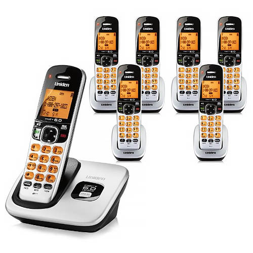 Uniden D1760-7 Cordless Phone w Intelligent Eco Mode & 6 Extra Handsets by Uniden
