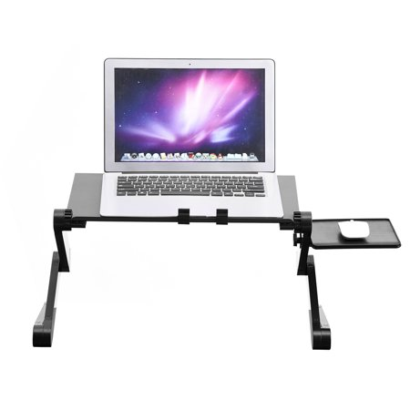 Mgaxyff 360° Adjustable Foldable Laptop Desk Table Stand Holder w/ Cooling Dual Fan Mouse Boad, laptop desk, computer desk