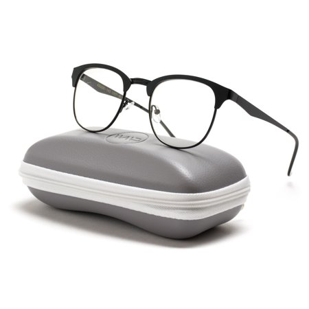 WearMe Pro - Metal Frame Modern Clear Lens Glasses (Black, (Average Price Of Glasses Frames)
