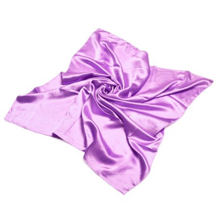 TrendsBlue Elegant Large Silk Feel Solid Color Satin Square Scarf Wrap 36 Inch