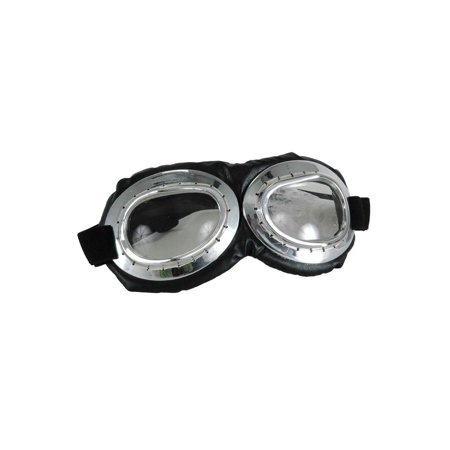 Aviator Goggle Silver & Black Adult Costume Accessory](Silver Suit Costume)