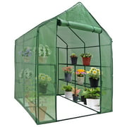 "Zenny - 57"" x 57"" x 77"" - 3-Tier 8 Shelves - Portable Mini Walk-In Greenhouse"