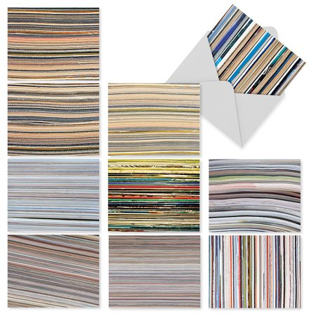Blank Card Paper (M2030 PAPER CUTS: 10 Assorted Blank Note Cards with Envelopes, The Best Card Company )