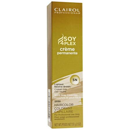Clairol Professional Creme Permanente Hair Color - Color : Lightest Neutral Brown - 5N ()