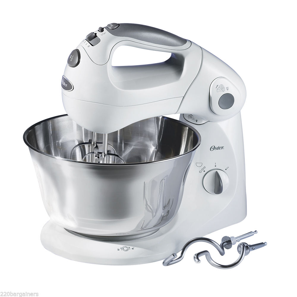 Oster 2601 New 220 Volt Stand Mixer with St Steel Bowl 220v 240v 50Hz (WILL NOT WORK IN NORTH AMERICA)