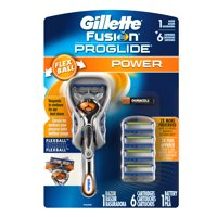 Deals on Gillette Fusion ProGlide Power Mens Razor w/6 Razors Blades Kit