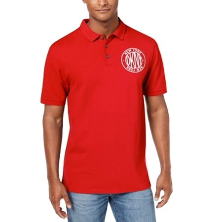 Men's Large Embroidered Logo Polo Rugby Shirt -
