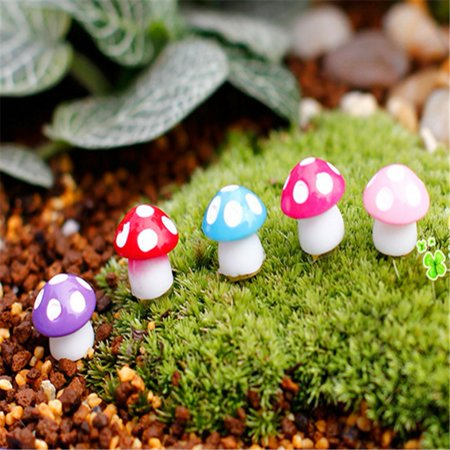 Everbest 20pcs Miniature Mushrooms Bonsai Dollhouse Garden Decoration Micro Landscape Ornaments-Purple](Mushroom Decorations)