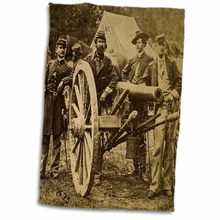 3dRose Vintage Civil War 1862 Battle of Fair Oaks Virginia Stereoview - Towel, 15 by 22-inch - Halloween Fair Oaks