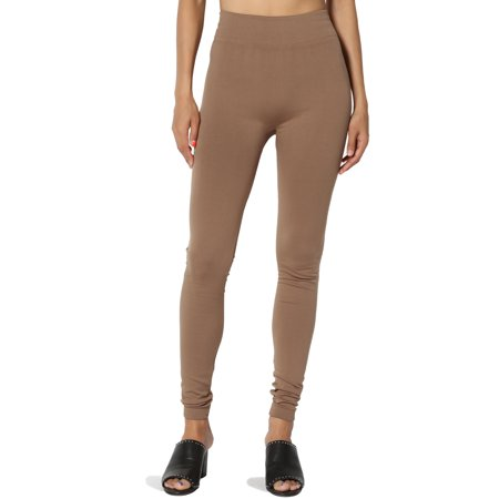 77e9427ed5fe93 TheMogan - TheMogan Women's S~3X High Waist Warm & Comfort Insulated  Seamless Fleece Leggings - Walmart.com