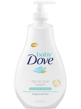3 Pack - Baby Dove Tip to Toe Wash, Sensitive Moisture 20 oz
