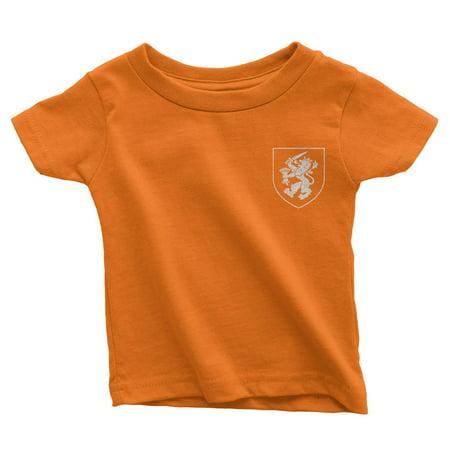 Netherlands Dutch Soccer Jersey Infant Tee Black