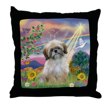 Cloud Nine Pillow Top - CafePress - Cloud Angel & Shih Tzu - Decor Throw Pillow (18