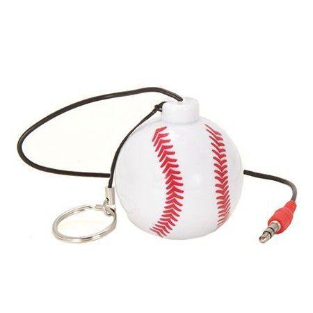 - Sound Logic Baseball Keychain Rechargeable Speaker