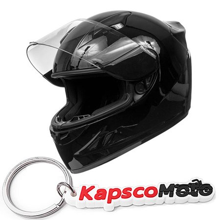 Koi Dot Motorcycle Helmet Full Face Sportbike Koi Gloss Black W  Clear Visor   Small   Kapscomoto Keychain