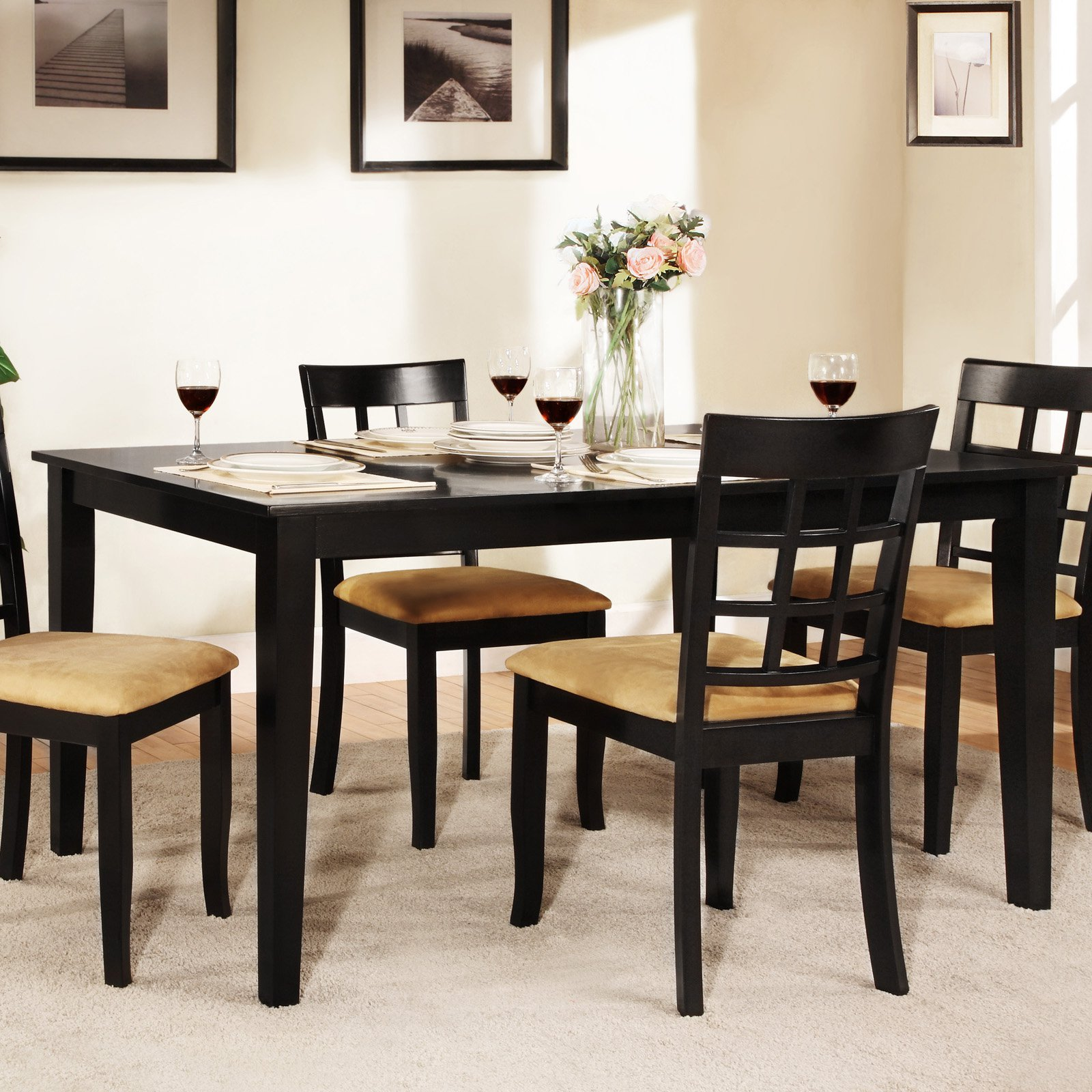 Weston Home Tibalt Black Dining Table -  in. - Walmart
