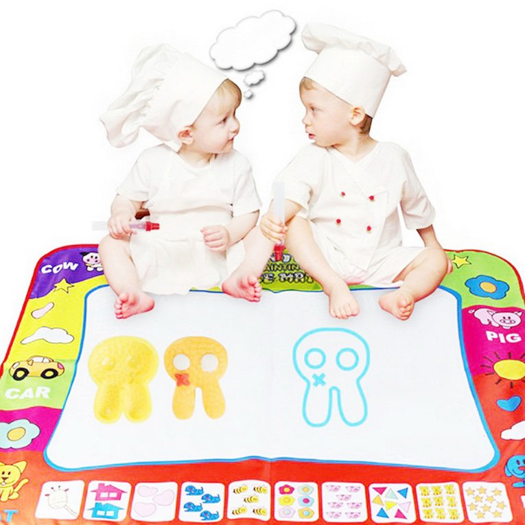Kids Water Drawing Mats Painting Writing Mat Board Magic Pen Doodle Gift 78*58cm