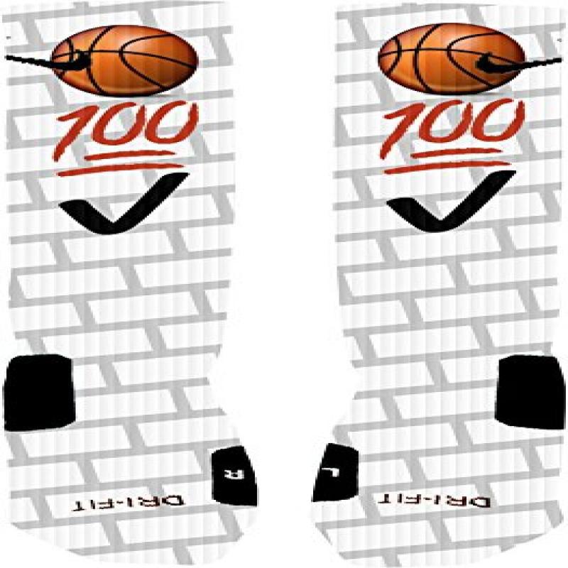 Emoji Basketball Custom Nike Elite Socks (Medium 6-8)