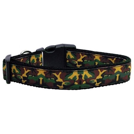 (Green Camo Nylon Ribbon Dog Collars Medium)