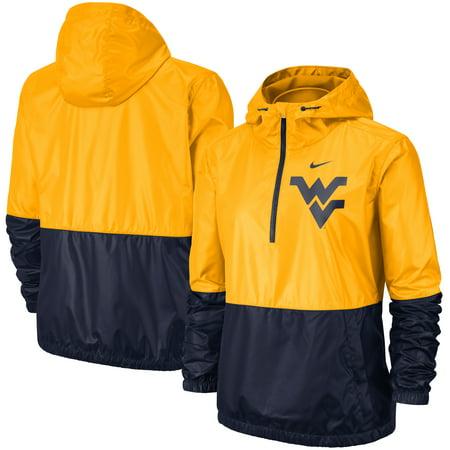 West Virginia Mountaineers Nike Women's Woven Anorak Half-Zip Pullover Jacket -