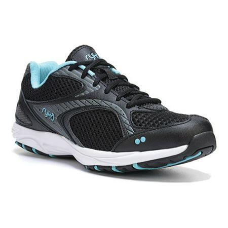 - RYKA Women's Dash 2 Walking Shoe, Black/Metallic Iron Grey/Winter Blue/White, 6.5 M US