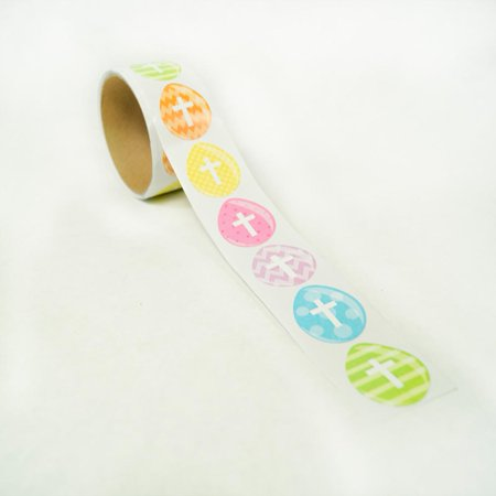 Cross Stickers (Easter Egg Cross Sticker Roll)
