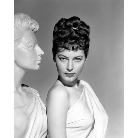 One Touch Of Venus Ava Gardner Portrait With Greek Statue 1948 Photo - Venus Greek