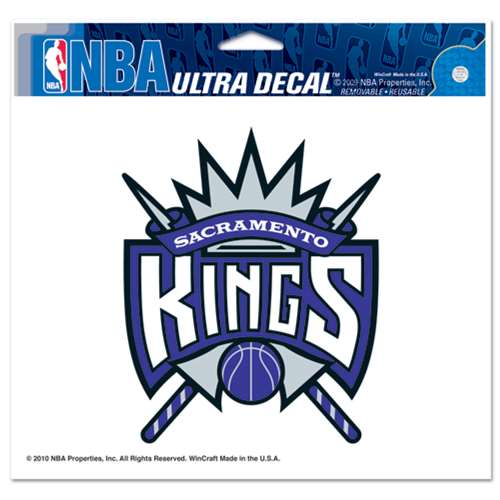 "Sacramento Kings Ultra decals 5"" x 6"""
