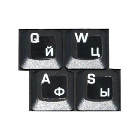 HQRP Russian / Ukrainian Cyrillic Keyboard White Stickers On Transparent Background for All PC / Desktops / Laptops / Notebooks / (Crystal Transparent Keyboard)