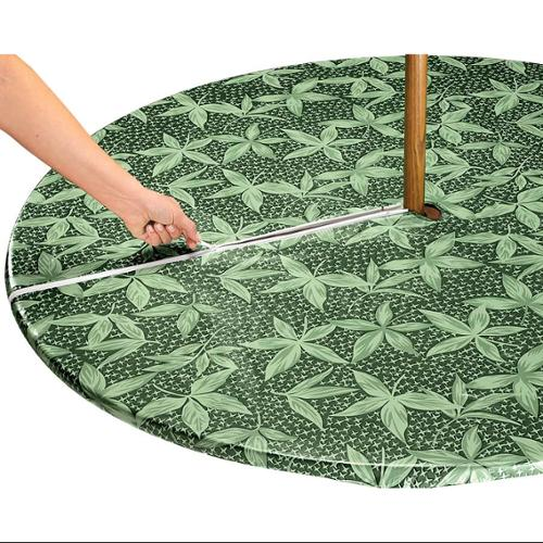 Fern Zippered Elasticized Umbrella Table Cover