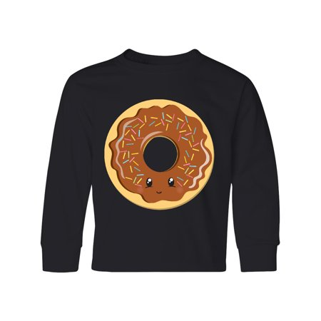 Chocolate Donut Youth Long Sleeve T-Shirt