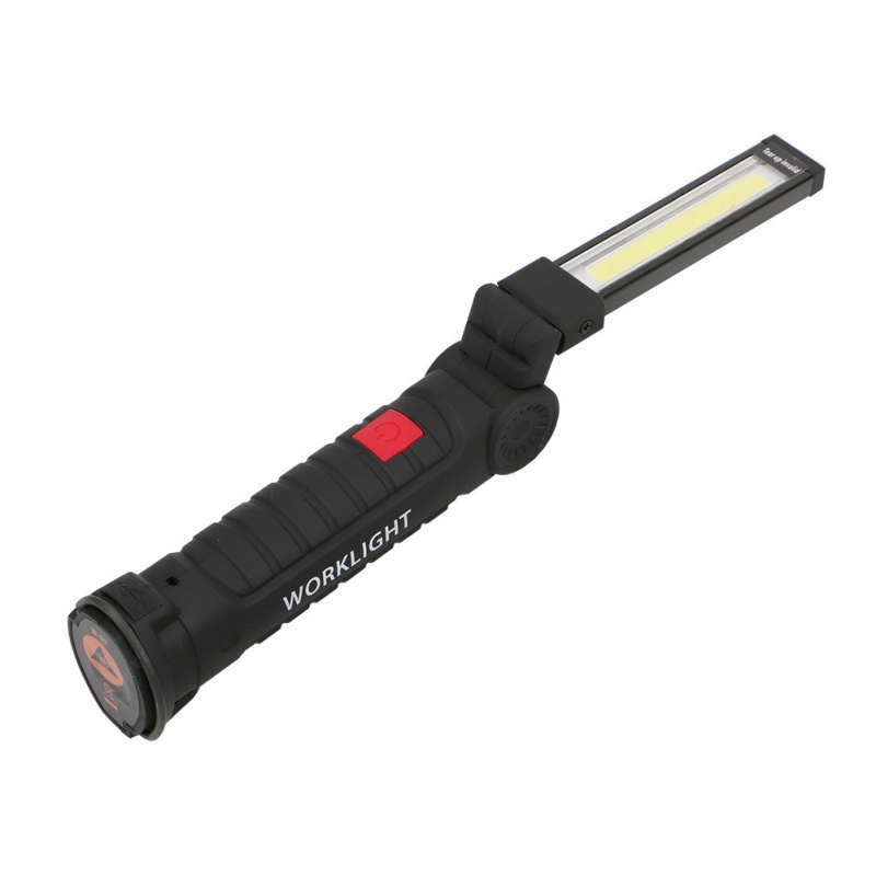 LED COB Hand Torch Inspection Lamp Flexible Handheld Work Light USB Rechargeable