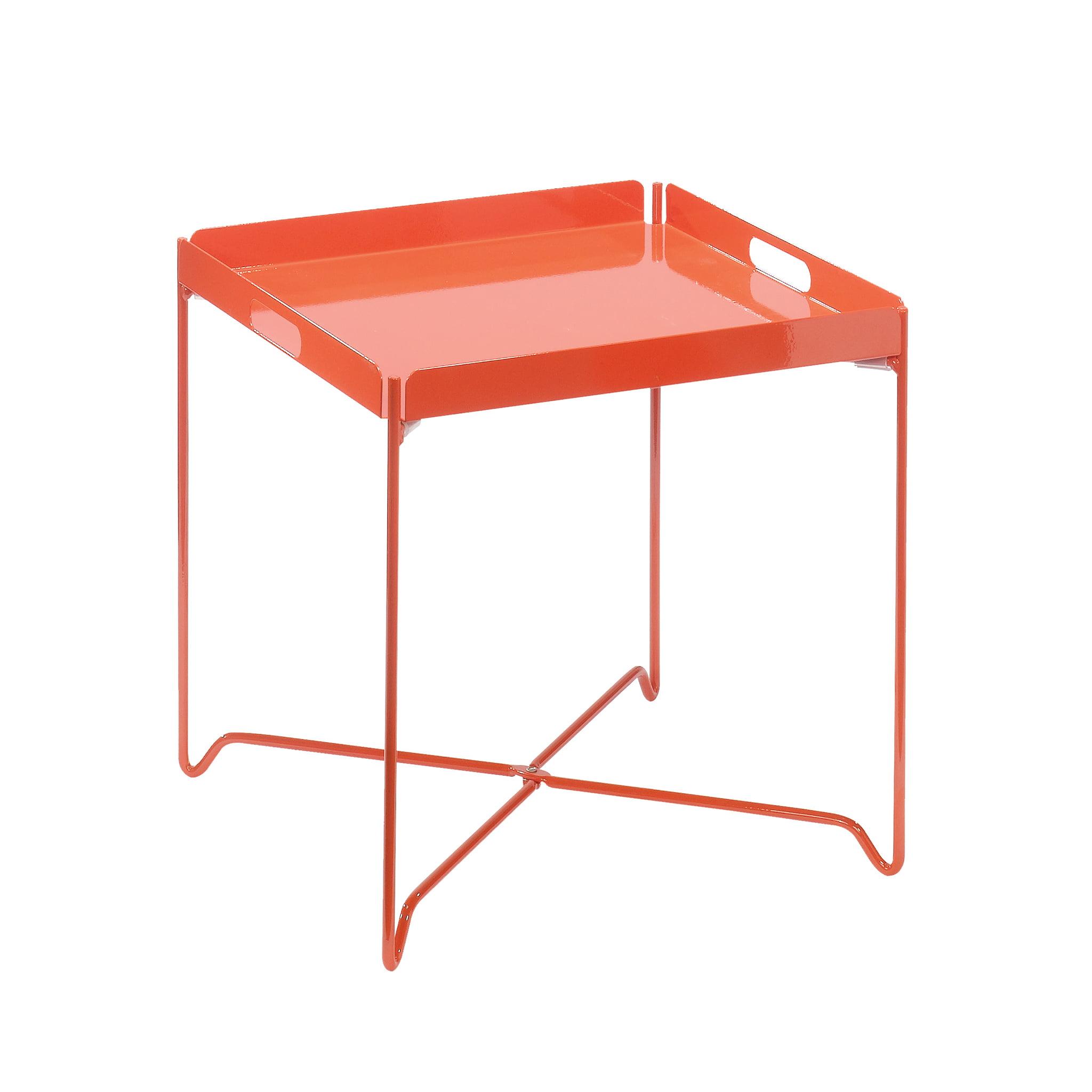 Sauder Harvey Park Tray Accent Table, Orange Blush